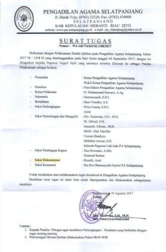 Pa Selatpanjang Mengadakan Rapat Pemantapan Panitia Qurban 1438 H 4 10